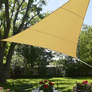 BlueDot Trading Triangle Shade Sail Breathable Mesh, 12 By 12 By 12 Foot