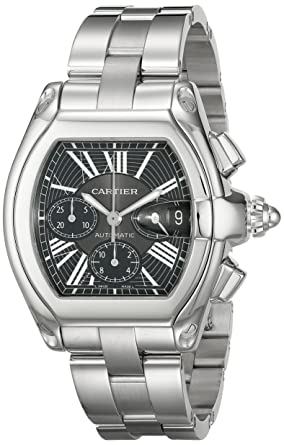 045522d5485 Image Unavailable. Image not available for. Colour  Cartier Men s W62020X6  Roadster Automatic Chronograph Watch