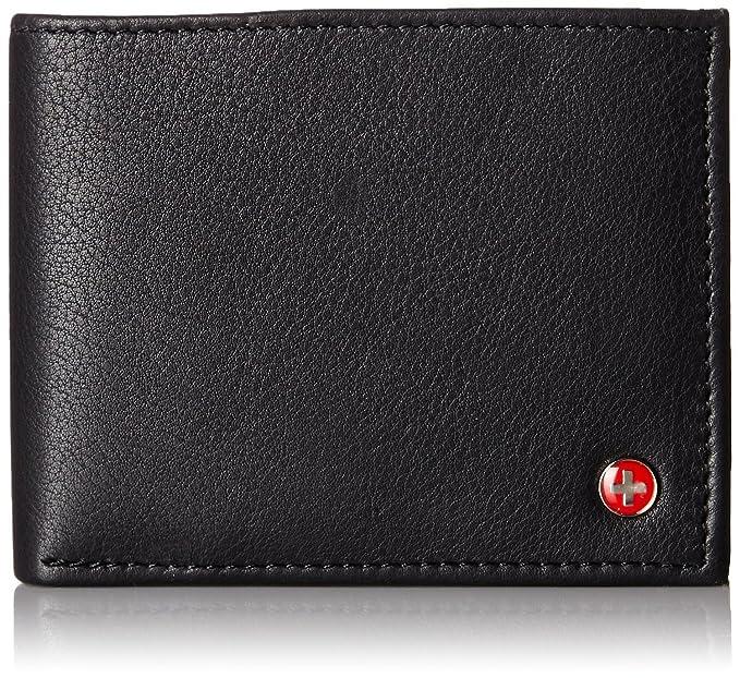 a9177da11a45e alpine swiss Men s Genuine Leather Wallet Slim Flip-out Bifold ...