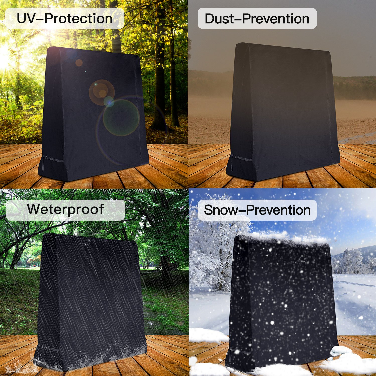 Dellcciu cover for table tennis table Waterproof UV resistant cover for table tennis tables 165 cm x 70 cm x 185 cm made from synthetic fabric high-quality weatherproof protective cover