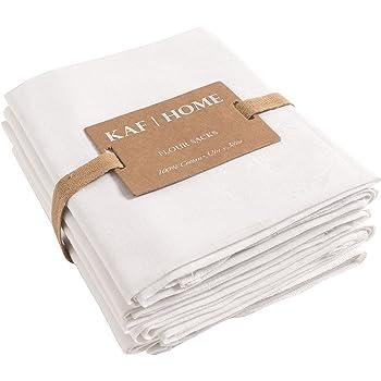 Amazon.com: KAF Home Flour Sack Kitchen Towels, White, Set