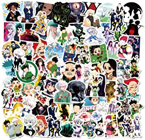 Huizhong 101PCS Hunter X Hunter Stickers Japanese Anime Gon Decal Laptop Boys Gifts for Skateboard Computer Luggage Scrapbook Bicycle Waterproof Vinyl Cool Cartoon Decorations