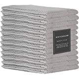 "Whitewrap Kitchen Dish Towels | 12-Pack Ring Spun Cotton Classic Waffle | 15""x25"" | Kitchen Towels Grey | Kitchen Towel…"