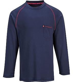 Portwest Bizflame Flame Resistant Crew Neck TShirt Long Sleeve,FR01,Multi Colors