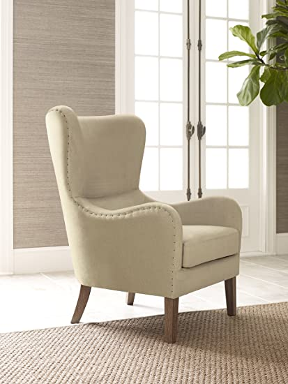 Delicieux Elle Decor UPH100085C Modern Farmhouse Accent Chair, Two Toned Tan