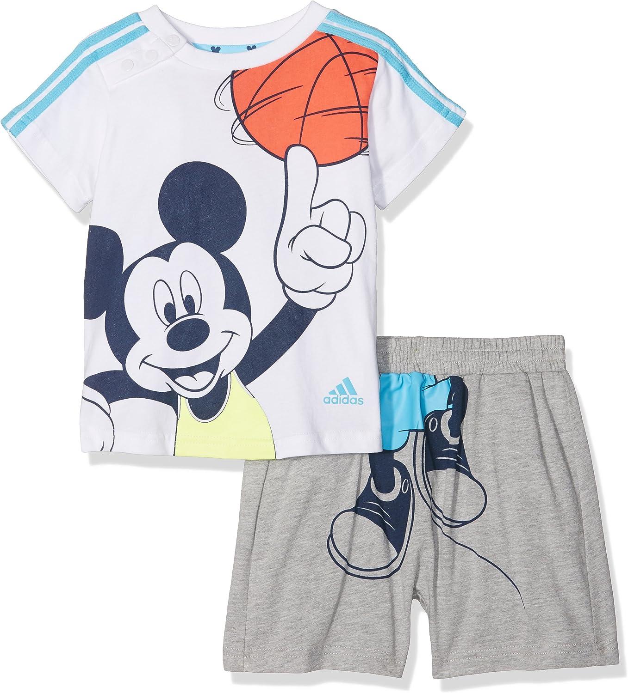 Adidas INF DY Mic SS - Chándal para niños, Color Gris/Azul/Blanco ...