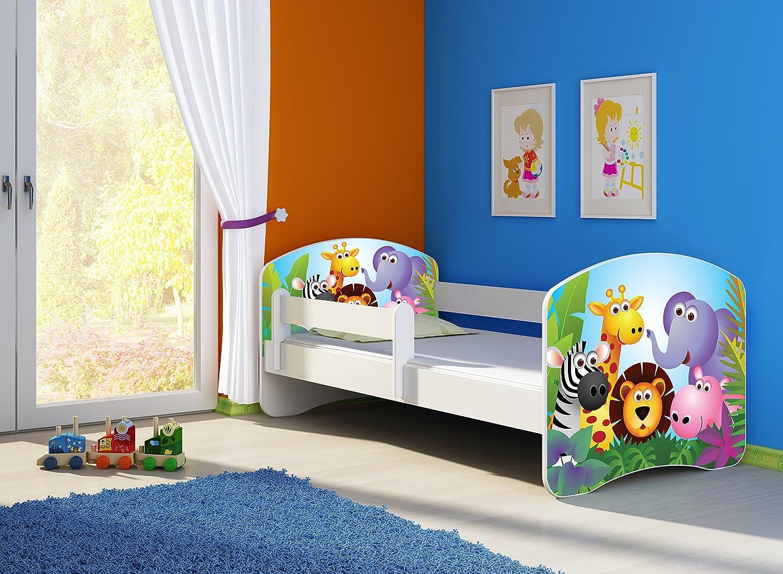 Letto per bambino Cameretta per bambino con materasso Cassetto ACMA II 20 Lescavatrice, 140x70 + Cassetto