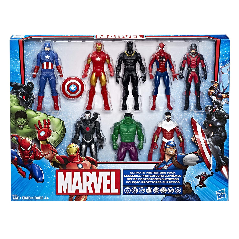 Marvel Avengers Action Figures - Iron Man  Hulk  Black Panther  Captain America  Spider Man  Ant Man  War Machine   Falcon   8 Action Figures