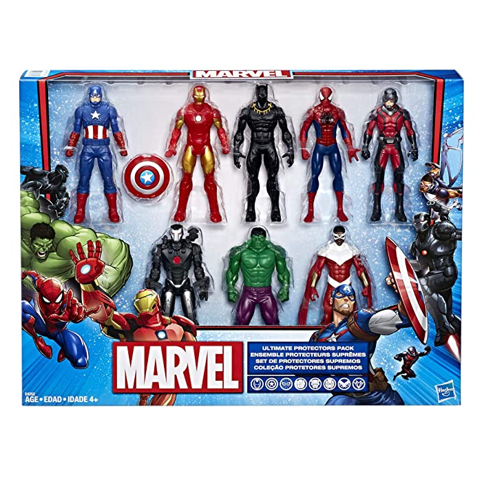 Marvel Avengers Action Figures - Iron Man, Hulk, Black Panther, Captain America, Spider Man, Ant Man, War Machine & Falcon! (8 Action Figures)
