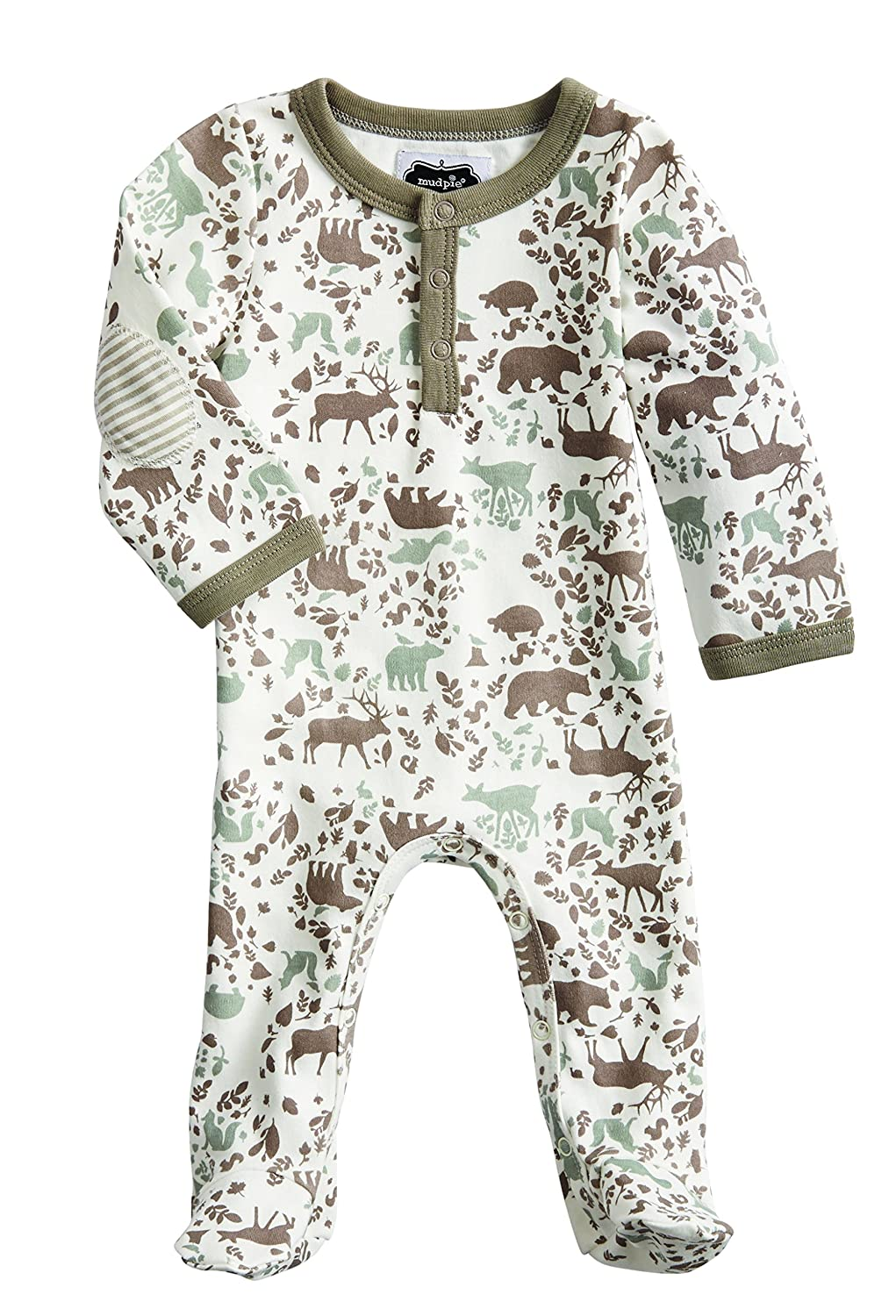 Mud Pie Forest Friends Newborn Baby Boy Woodland Footed Sleeper 1032284