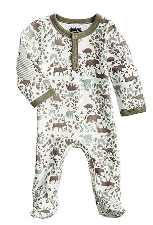 0d3dd7a4ef Mud Pie Forest Friends Newborn Baby Boy Woodland Footed Sleeper 1032284  (3-6 Months