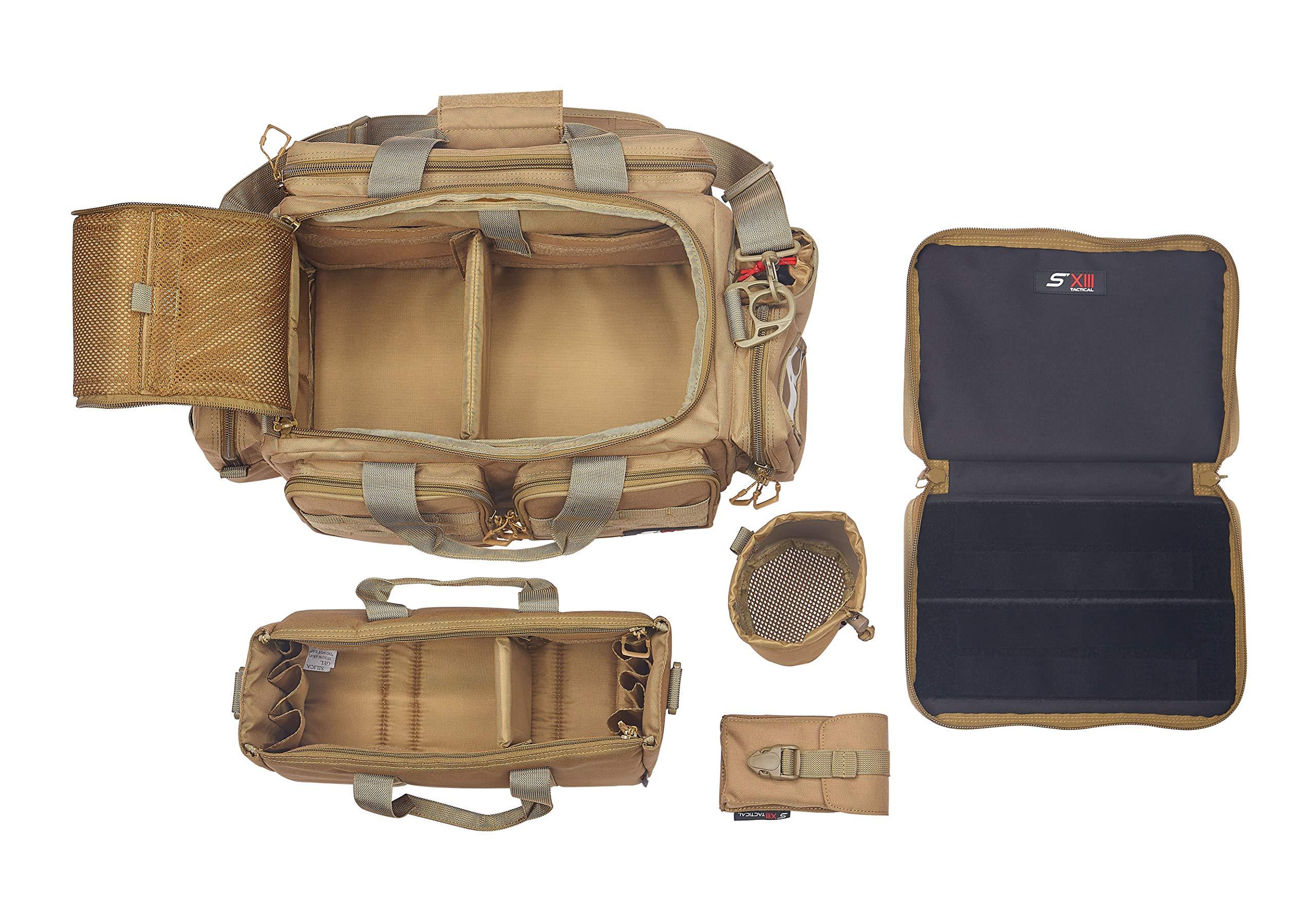 SXIII S13 RB1-TAN 1000D Ballistic Denier Tactical Pistol Range Bag (Tan)