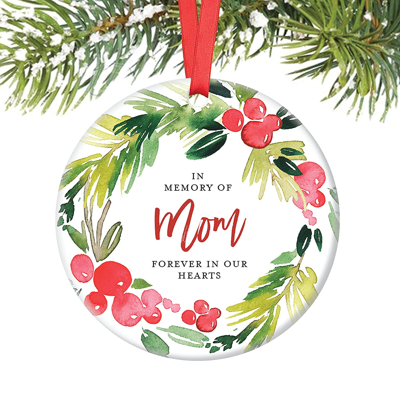 Amazon.com: In Memory of Mom Ornament, Christmas Ornament Memorial ...