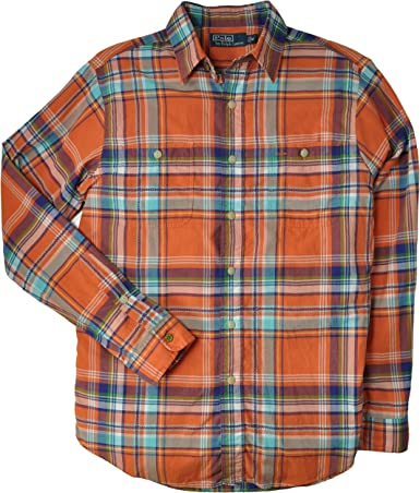 Polo Ralph Lauren hombres Camisa de tela escocesa de Madras ...