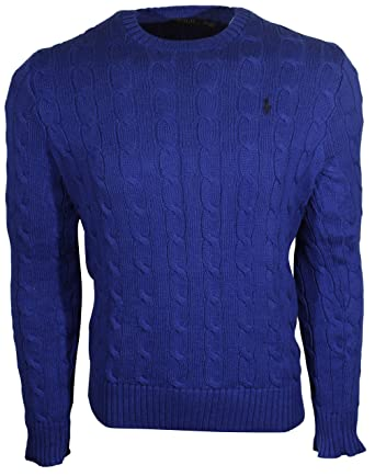 3628eee51d225e Polo Ralph Lauren Mens Cable-Knit Crew Neck Sweater at Amazon Men's  Clothing store: