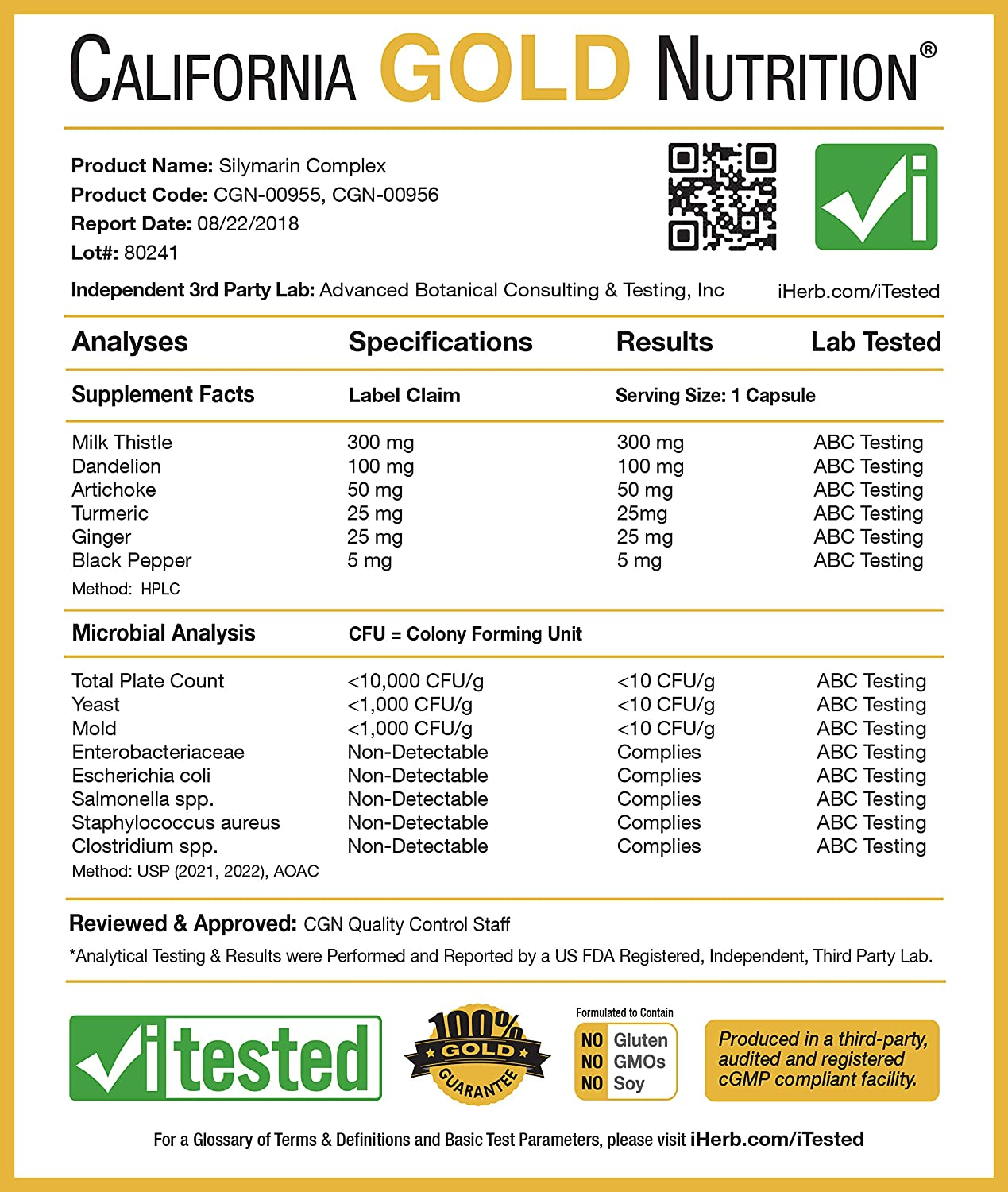 California Gold Nutrition, Silymarin, Milk Thistle Extract Complex, Supports Liver Health,...
