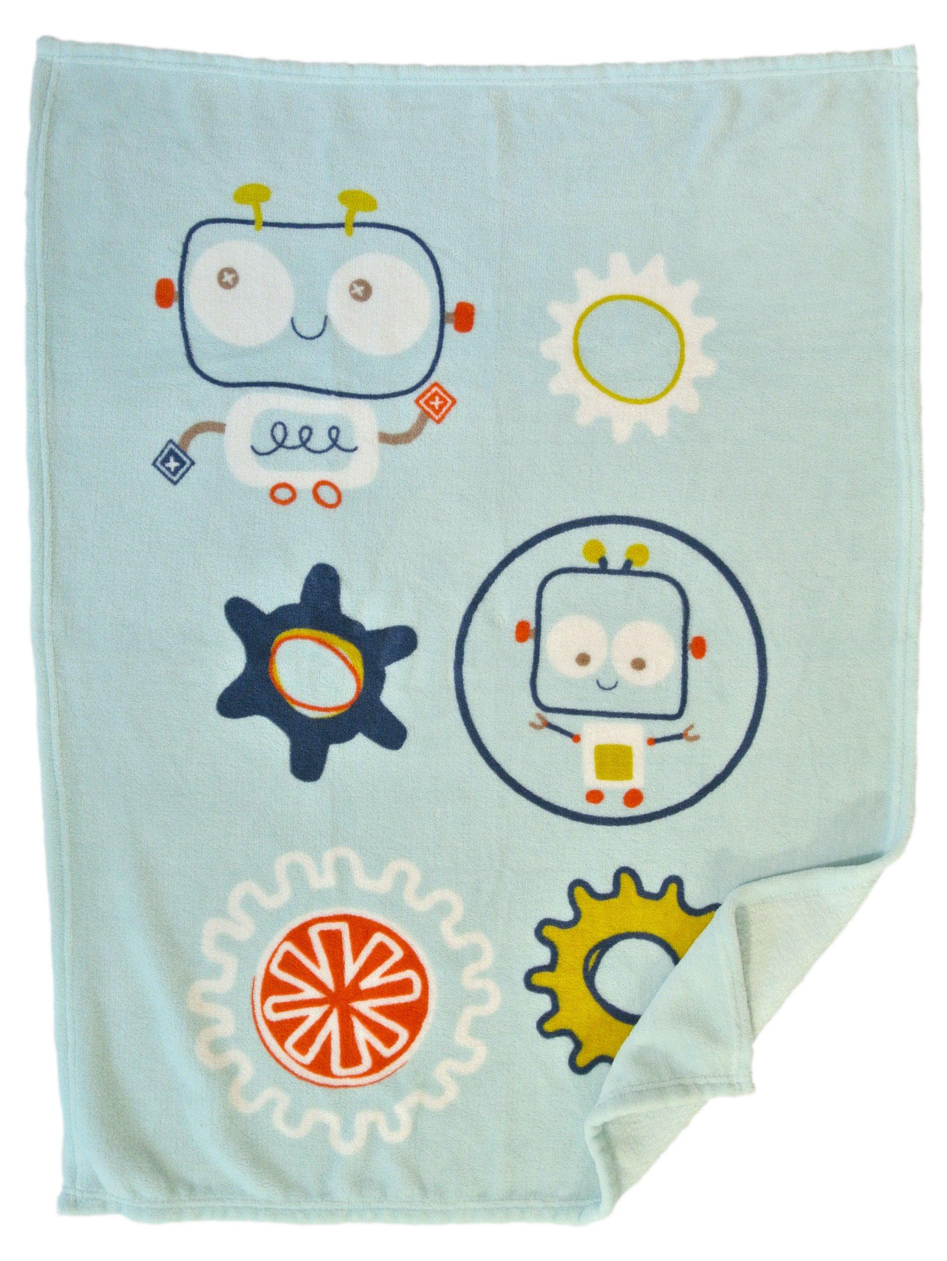 Baby Blanket (Robot) Super Soft Fleece Baby Boy's Blanket/Cozy blanket/Crib To Toddler/Registry Gift For Boy and Girl/Super soft