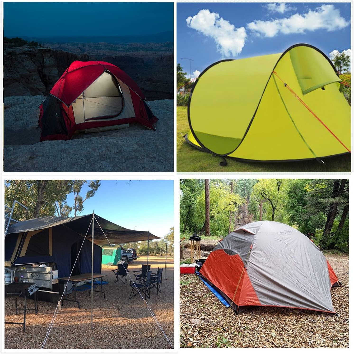 Pack of Heavy Duty 30cm Red Plastic Multipurpose Tent Pegs 25Pcs
