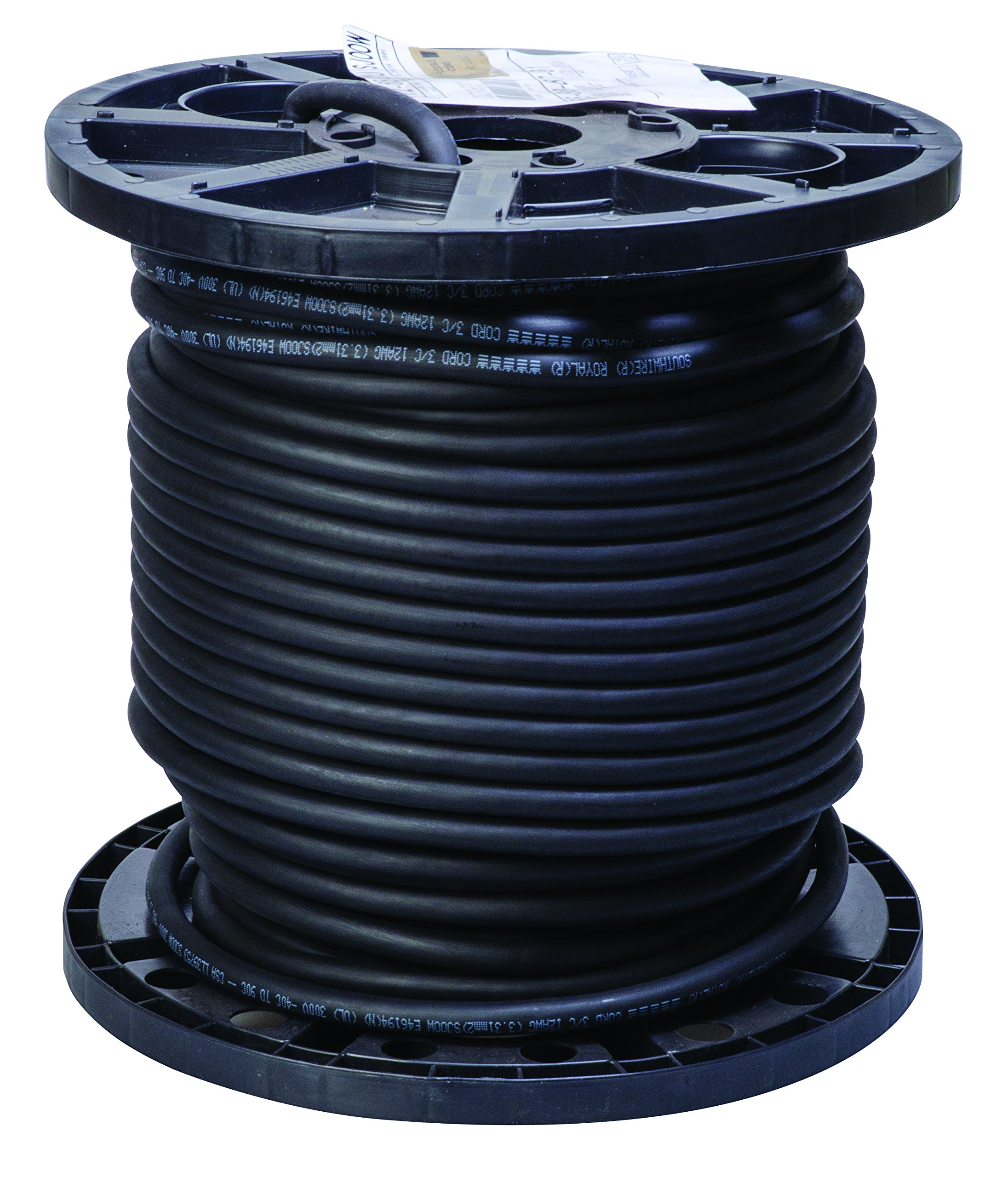 Southwire 55808701 12/3 SJOOW Flexible Portable Cord, 250' by Southwire
