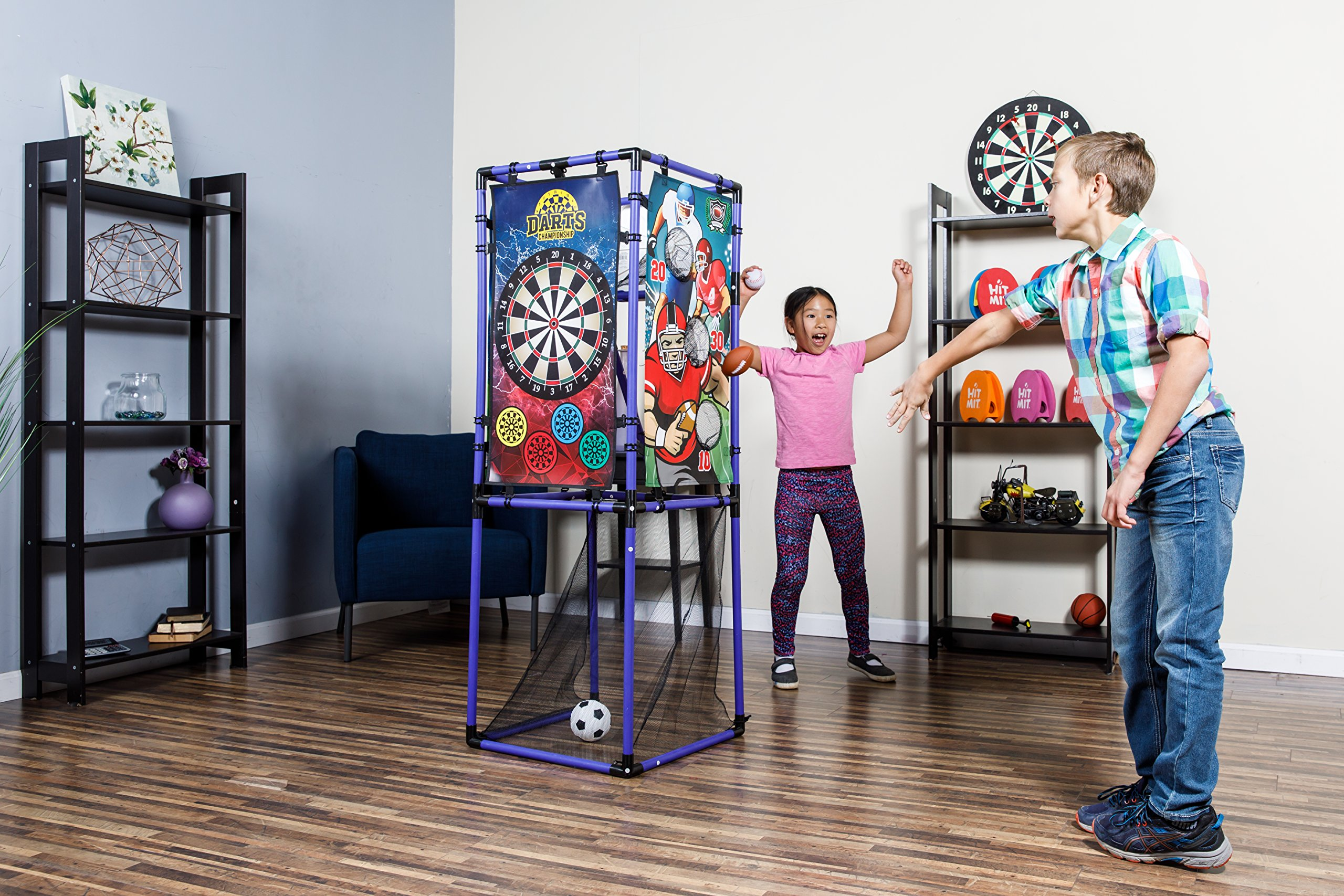 Sport Squad 5-in-1 Multi-Sport Kid's Game Set – Features Baseball, Basketball, Football, Soccer, Darts – Great for Indoor and Outdoor Play by Sport Squad (Image #8)