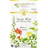 Celebration Herbals Yerba Maté with Morning Mint Tea Organic 24 Tea Bag, 48Gm
