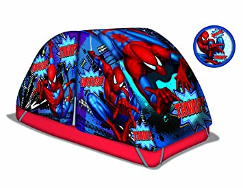 Marvel Spiderman Bed Tent with Pushlight  sc 1 st  Amazon.com & Amazon.com: Marvel Spiderman Bed Tent with Pushlight: Toys u0026 Games