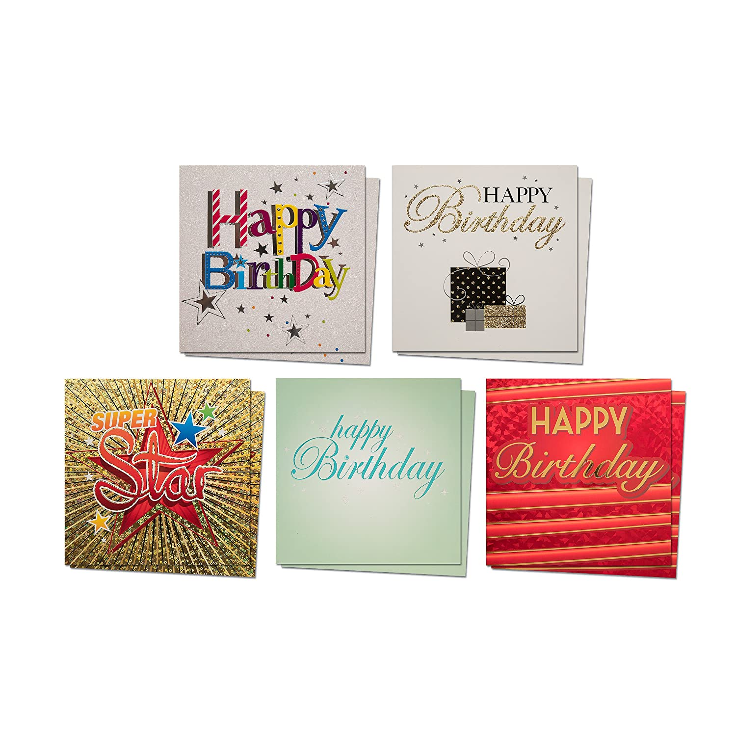 Amazon Com Birthday Greeting Cards Diamond Collection Set Of