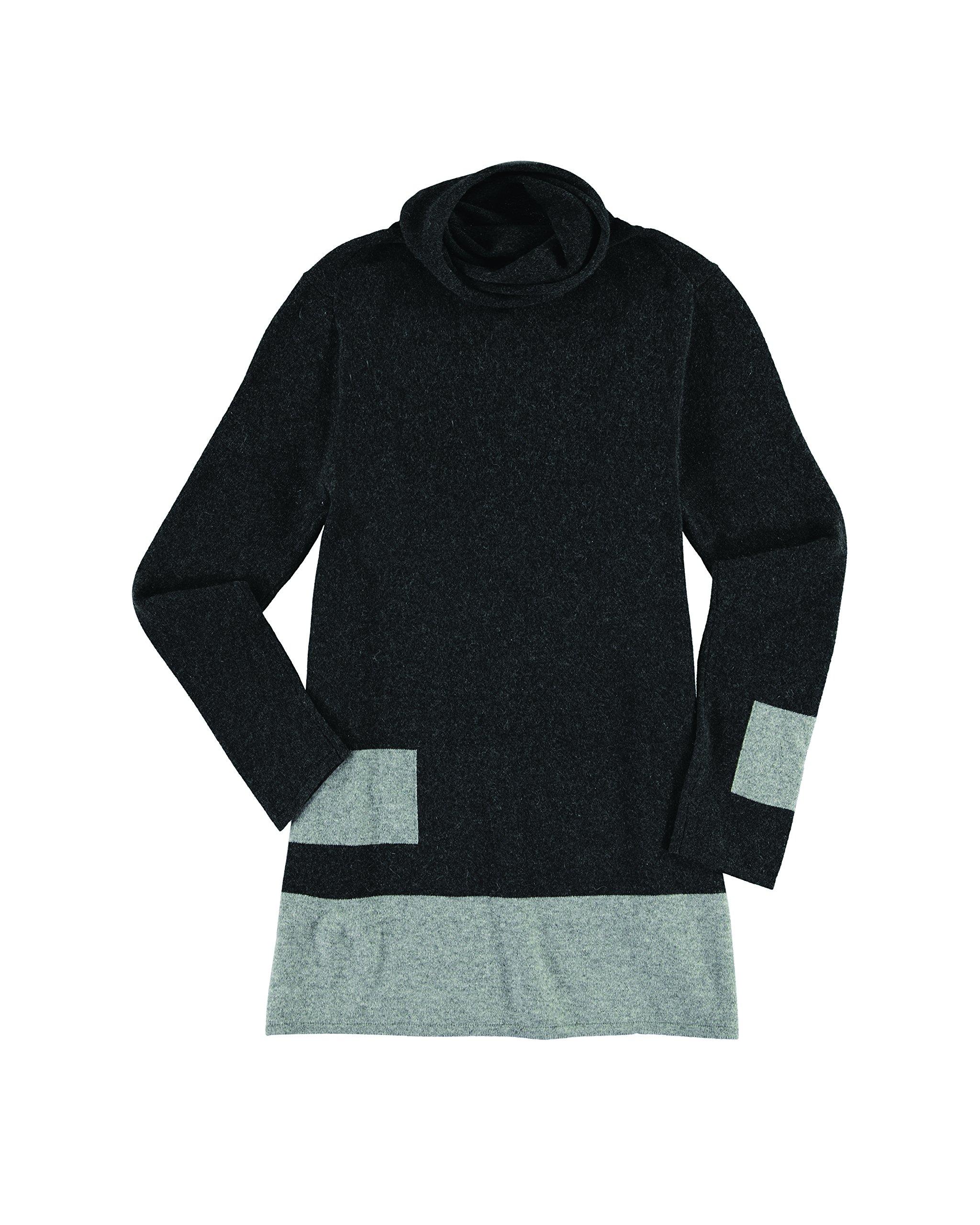 Krimson Klover Stacks Cashmere Tunic - ( Charcoal, Large )