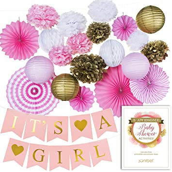Amazon Premium Baby Shower Decorations For Girl Kit Free