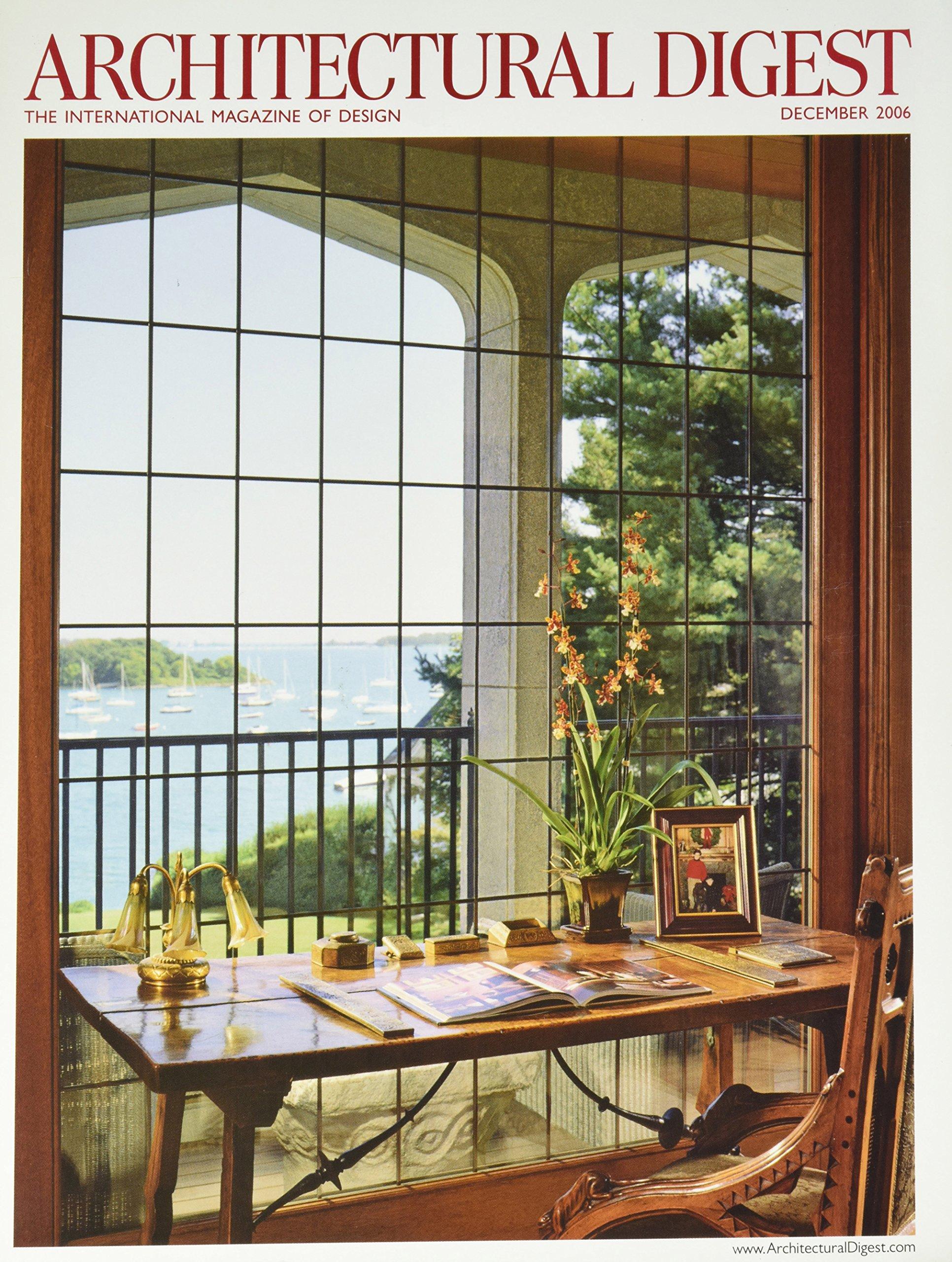 Download ARCHITECTURAL DIGEST: THE INTERNATIONAL MAGAZINE OF DESIGN: December 2006, Volume 63 No. 12 (Estates For Sale, DECO in Florida, Carleton Varney in NYC, Vol. 63, #12) pdf epub