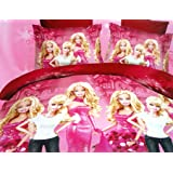 Amk Home Decor Barbie Double Bedsheet(250X230)With 2 Pillow Covers
