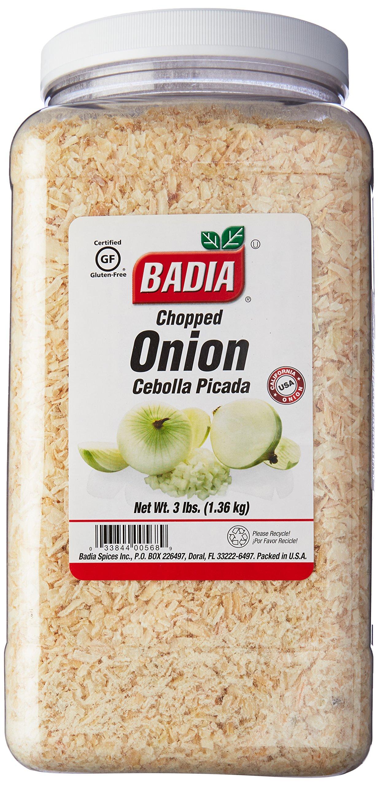Badia Onion Flakes (Chopped) 3 lbs