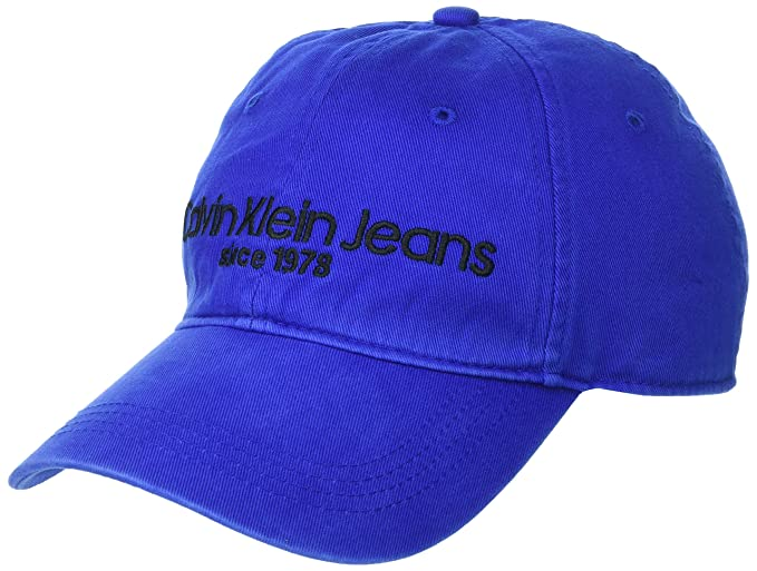 2b7708ae8c5 Calvin Klein - Calvin Hat Hats   Caps Blue One Size Men  Amazon.co ...