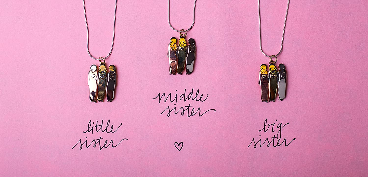 Far Fetched Bond Between Three Sisters Pendant