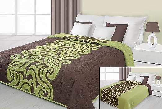 Colcha cubierta verde marrón Chocolate ligero ultrasónico 58