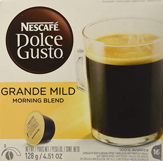 Amazon.com : NESCAFÉ® Dolce Gusto® GRANDE MILD 16 Pods Dolce Biscuit Box : Coffee Substitutes : Grocery & Gourmet Food