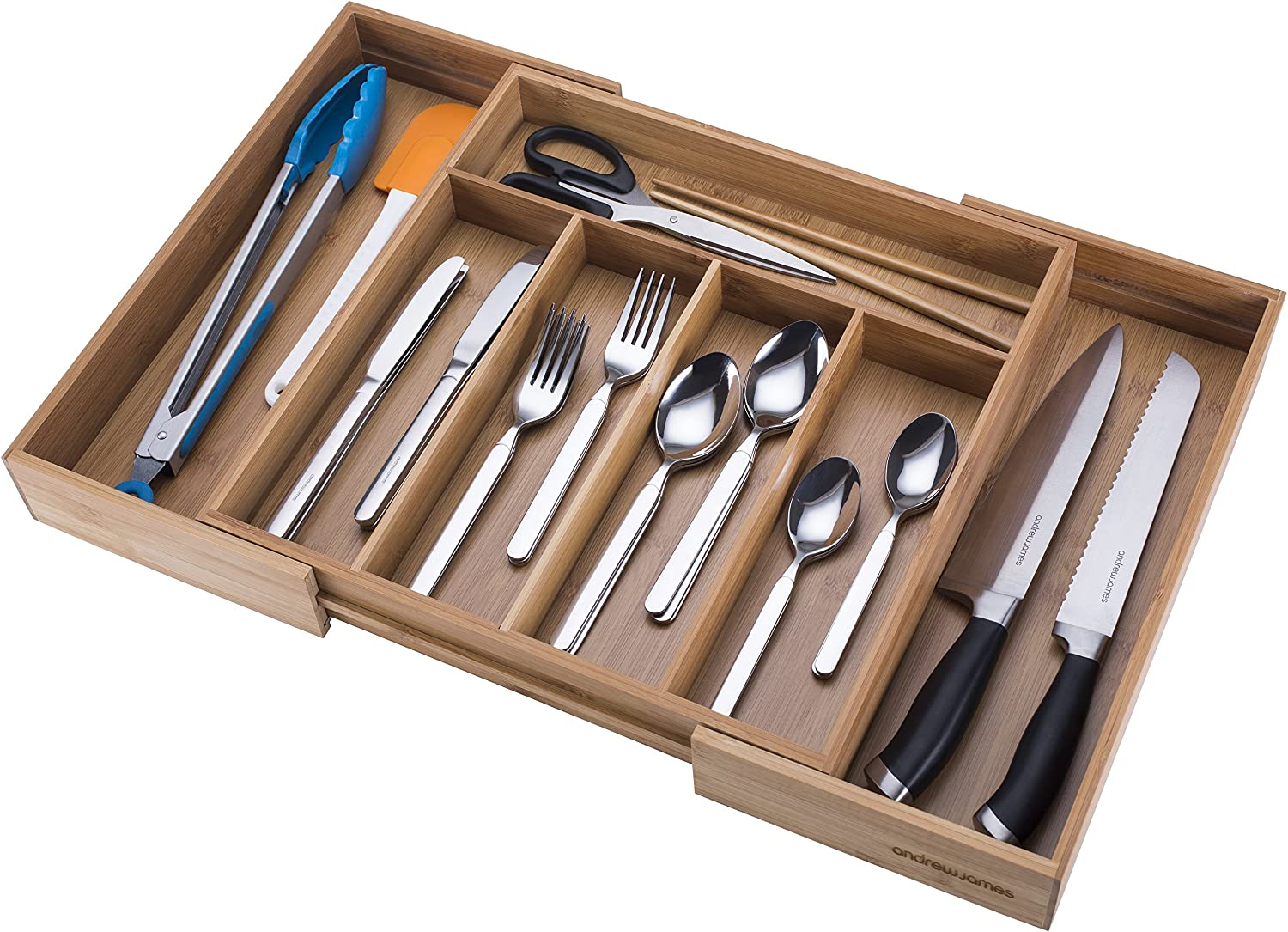 Large Expandable Cutlery Tray Holder Tidy Drawer Draw Organiser Storage Unit