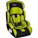 TecTake Siège auto Groupe I/II/III pour enfants 9-36 kg 1-12 ans Vert/noir