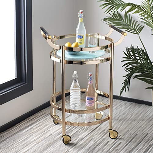 Safavieh Sienna Bar Cart, Gold Glass