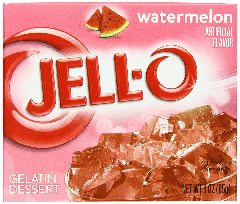 Amazon Jell O Gelatin Dessert Watermelon 3 Ounce Boxes Pack