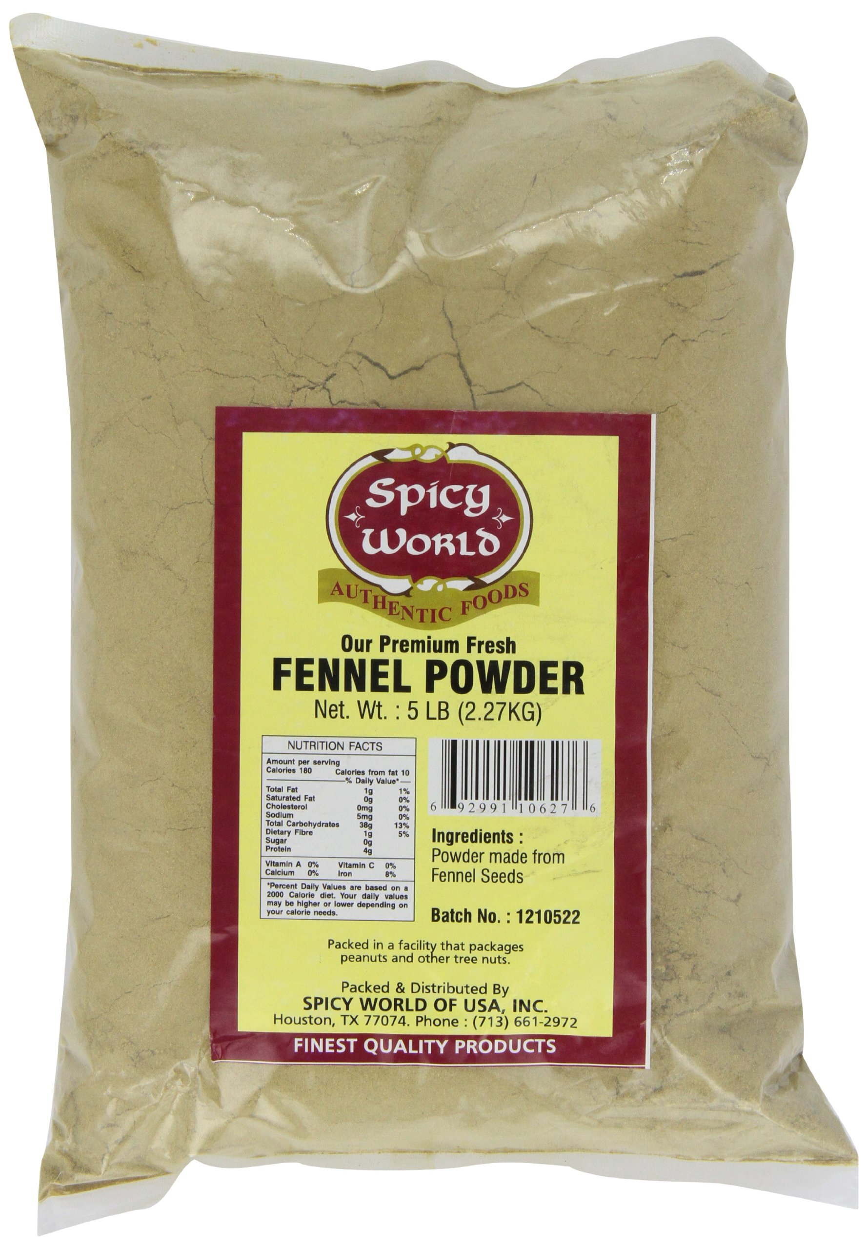 Spicy World Ground Fennel Powder Bulk, 5-Pounds