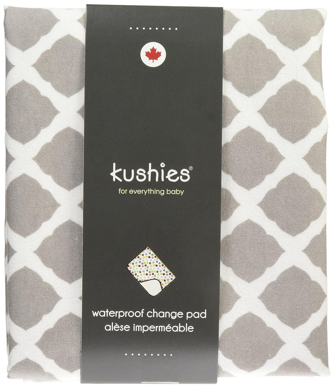 Grey Lattice Kushies Baby Deluxe Change Pad