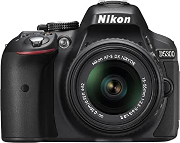 International Version Nikon D5300 24.2 MP CMOS Digital SLR Camera with Nikkor AF-S 18-55mm f//3.5-5.6G AF-S DX VR Lens No warranty Black