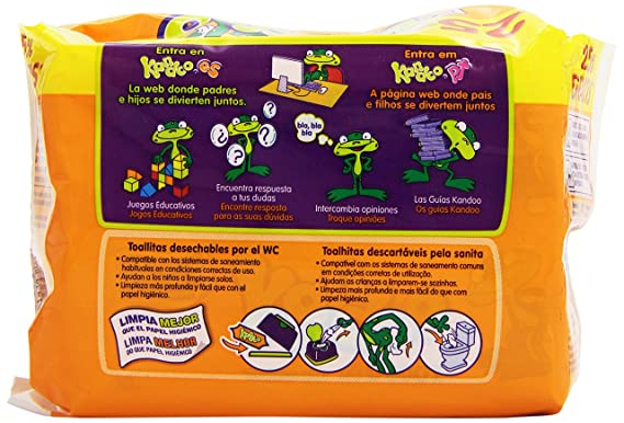 Kandoo de Dodot - Toallitas WC - 100 unidades: Amazon.es: Alimentación y bebidas