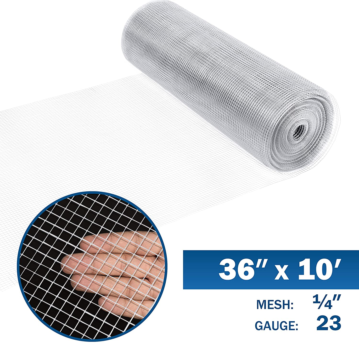 3 ft. x 50 ft. Fencer Wire 23 Gauge Galvanized Hardware Cloth with Mesh Size 1//4 x 1//4