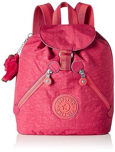 Amazon.com: kipling BUSTLING Medium Sized Drawstring Backpack Punch Pink C: Shoes