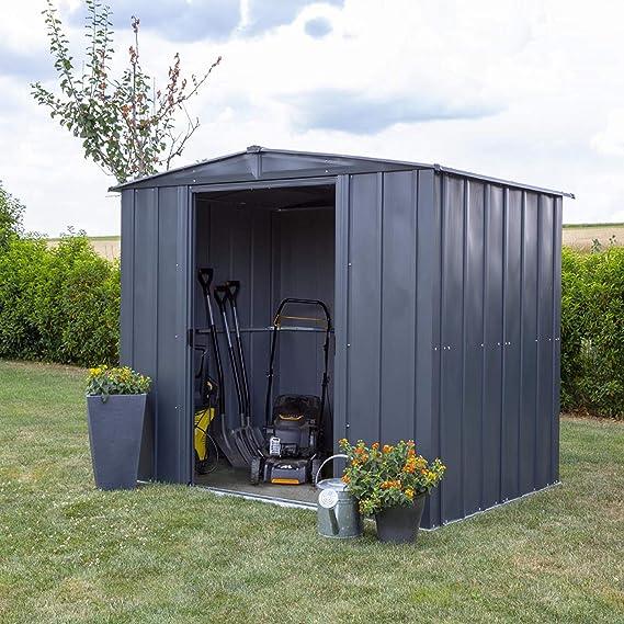 Spacemaker Metal Dispositivos hogar, Metal Dispositivos hogar, jardín casa de Metal 8 x 6 Gris, 253 x 181 cm: Amazon.es: Jardín
