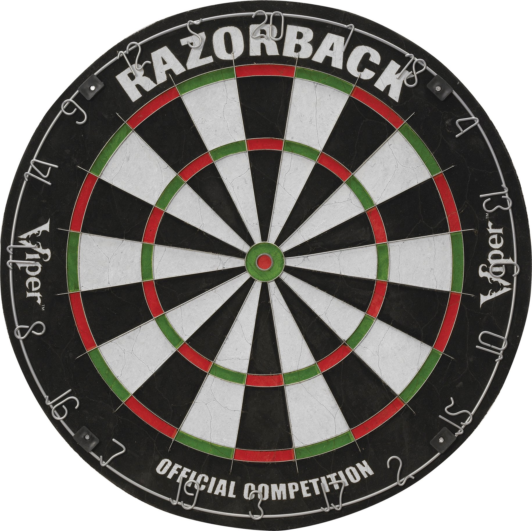 Viper Razorback Sisal/Bristle Steel Tip Dartboard with Staple-Free Spider by Viper by GLD Products