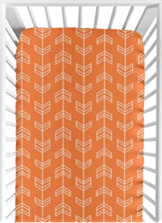 Baby Crib Long Rail Guard Cover for Orange and Navy Arrow Print Bedding Collection Sweet Jojo Designs B014HT8H6S