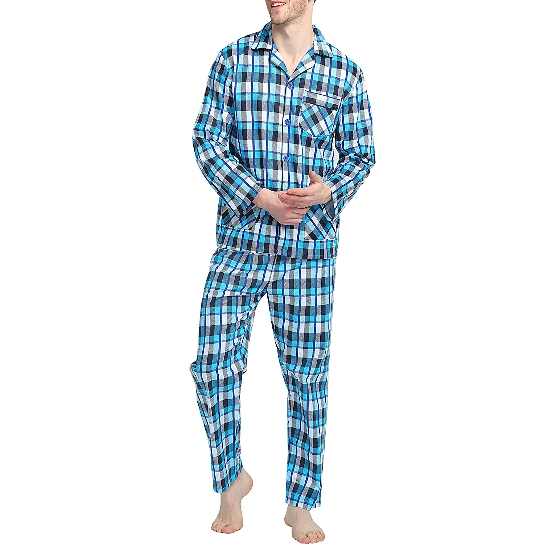 a5b82c951b GLOBAL Mens Flannel Pajamas